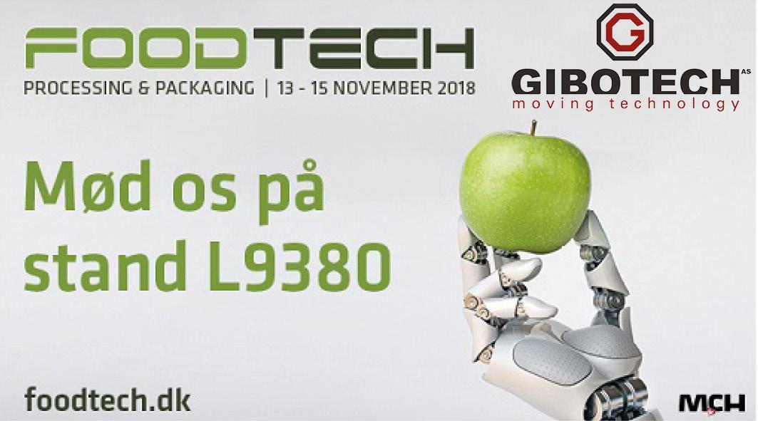 Mød Gibotech på FoodTech 13.–15. november