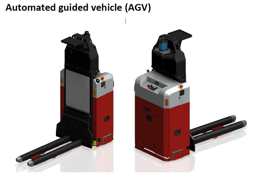 Billede af den AGV model, der kommer til at køre på Regionshospital Gødstrup.