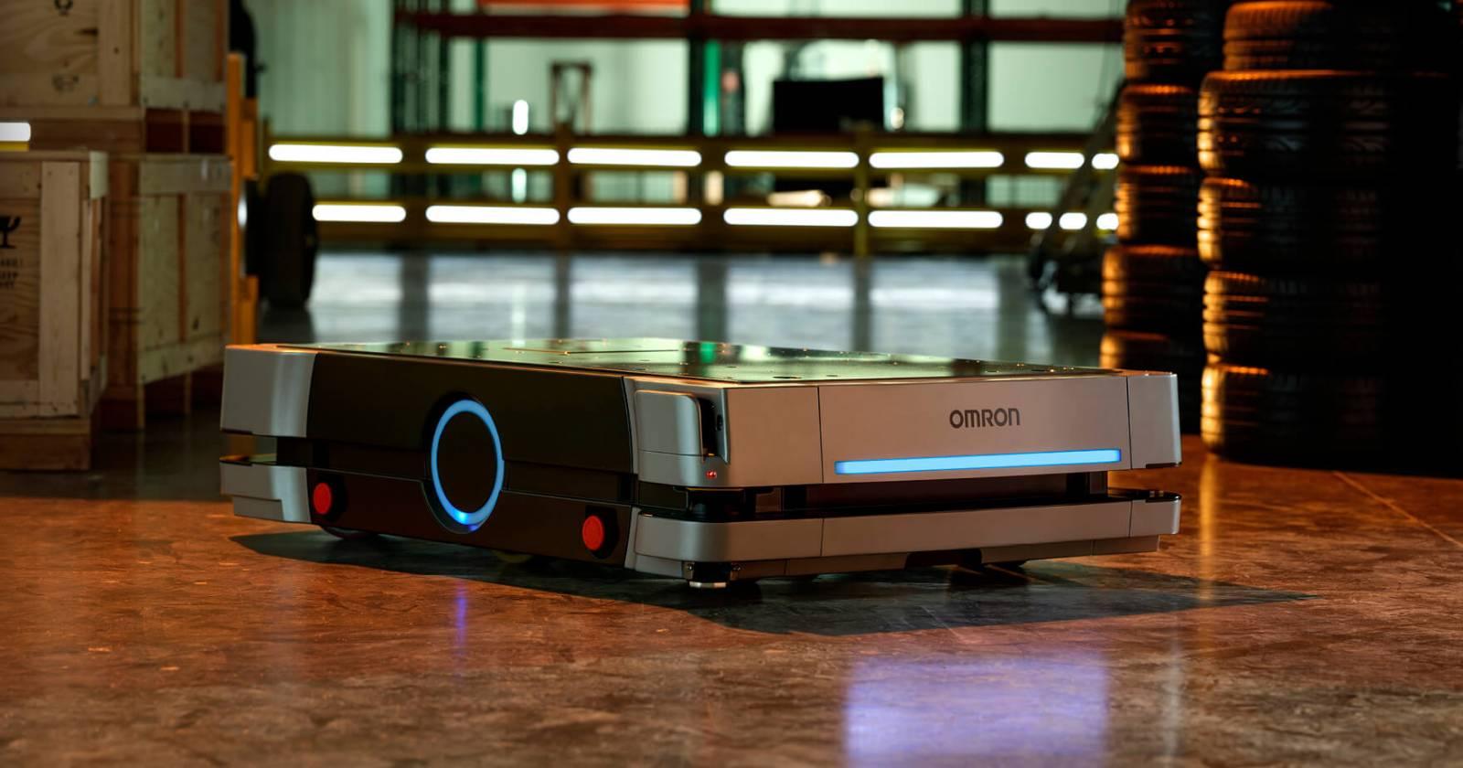 ", <span class=""caps"">OMRON</span> klar med ny mobil robot, Gibotech"